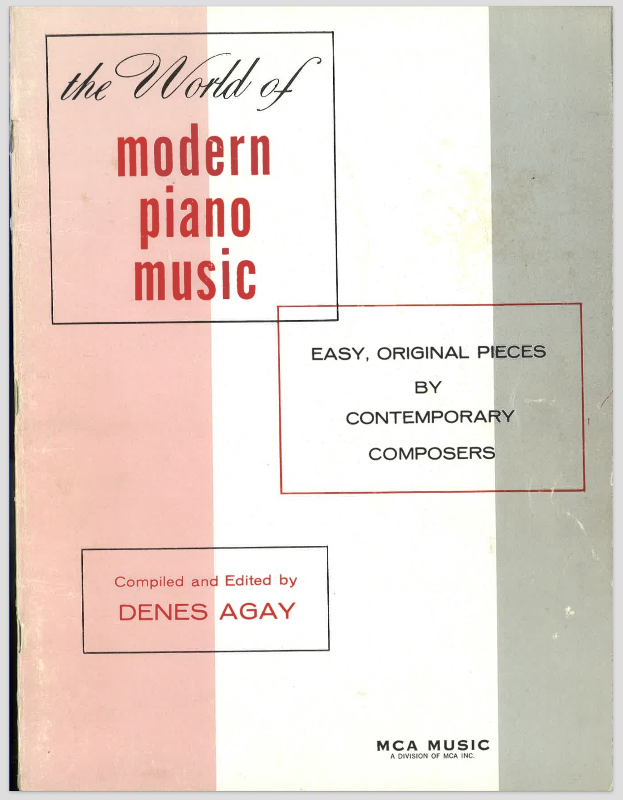 Anthologies of modern and contemporary piano music (1940 – 2015